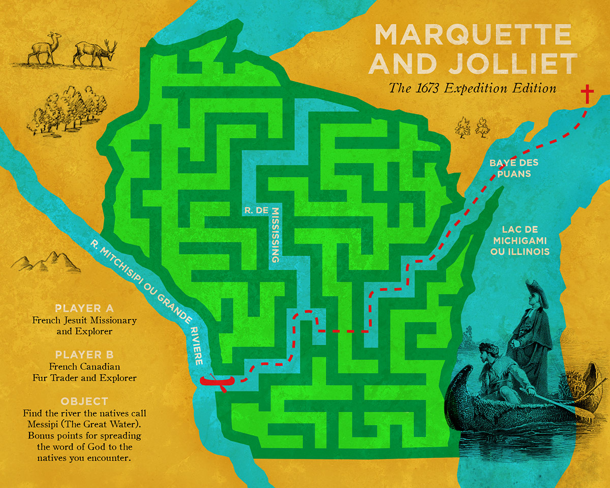 jacques marquette and joliet expedition Jacques marquette, sj and while marquette was preparing for the voyage and awaiting the season of navigation, joliet came to join the expedition on 17 may.