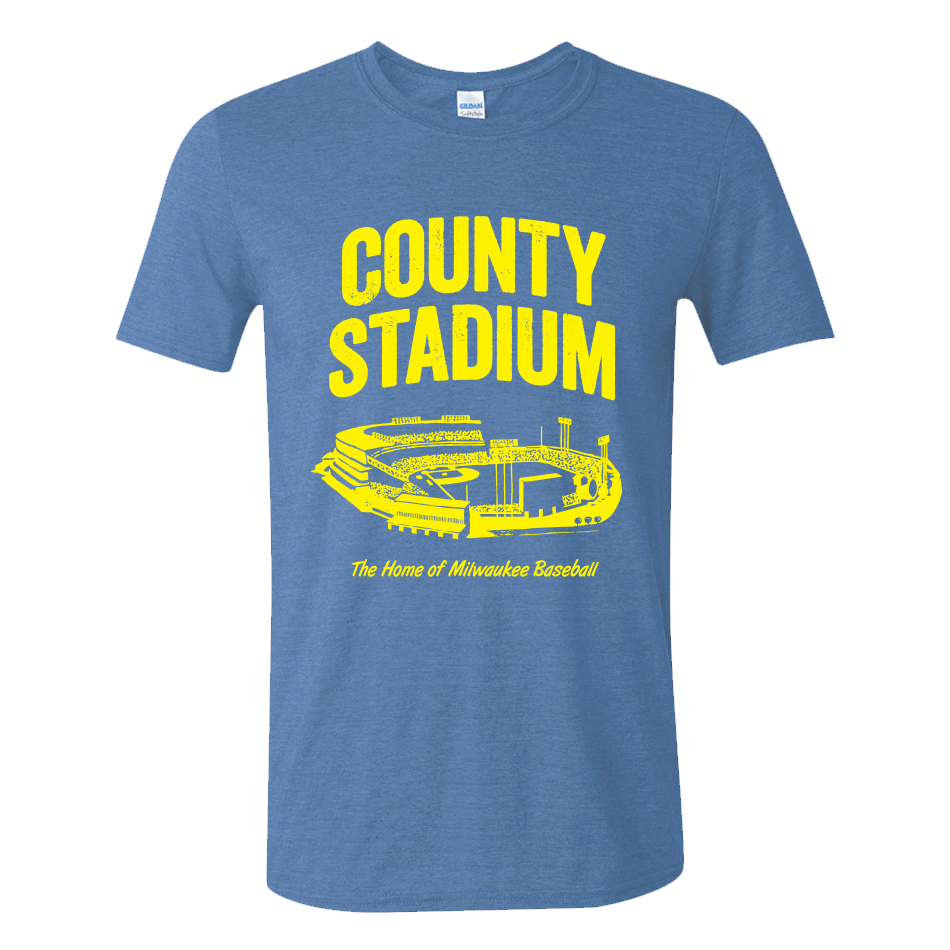 County-Stadium-Tee-M-Gildan-Heather-Royal