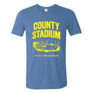 County Stadium Tee M Gildan Heather Royal